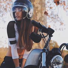 biker babes | lemoncustommotorcycles:   Great snap of...