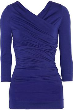 Vivienne Westwood Anglomania Deity ruched stretch wool-blend top on shopstyle.ca