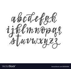 Cute hand-drawn faux calligraphy alphabet vector image on VectorStock Faux Calligraphy Alphabet, Handwriting Alphabet, Hand Lettering Alphabet, Calligraphy Handwriting, Cute Fonts Alphabet, Cute Calligraphy, Calligraphy Quotes Doodles, Modern Caligraphy, Doodle Alphabet