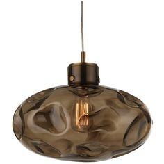 Heathfield & Co Leoni Smoke Antique Brass Pendant Lamp ($420) ❤ liked on Polyvore featuring home, lighting, ceiling lights, grey, antique brass lighting, oval pendant light, gray lamps, antique brass lamps and antique brass ceiling lights