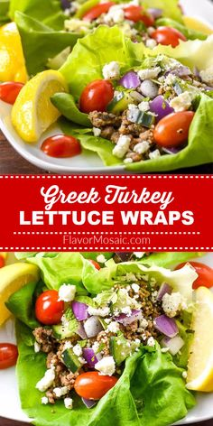 These light, refreshing Turkey Lettuce Wraps have all the Greek flavors and tastes similar to a gyro but in a lettuce cup instead of pita bread.  #LettuceWraps #GreekTurkey #GreekTurkeyLettuceWraps #FlavorMosaic Turkey Lettuce Wraps, Turkey Tacos, Summer Recipes, Healthy Dinner Recipes, Cooking Recipes, Healthy Options, Greek Turkey, Pita Bread, Latest Recipe