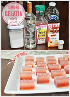 Ombre Gelatin Shots Recipe - Jello Shots - Sprinkles - DIY