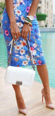 Chanel Handbag.. Pretty Floral   The Fierce Diaries