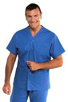 Tunique médicale Unisex 100% coton Cancun bleu Blouses Médicales, Medical Uniforms, Dress Designs, Designer Dresses, Dental, Audi, Sewing Projects, Button Down Shirt, Men Casual