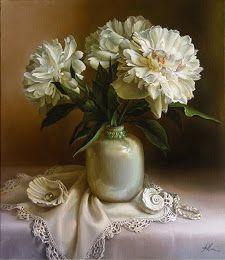 Maria Ilieva Seashell Painting, Raindrops And Roses, Mural Painting, Still Life Flowers, Art Themes, Still Life Art, Still Life Photography, Photo Art, Beautiful Paintings