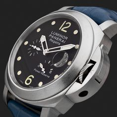 Montre Panerai Luminor Power Réserve Regatta Luminor Watches, Panerai Luminor, Men's Watches, Sport Watches, Luxury Watches, Watches For Men, Panerai Regatta, Panerai Marina, Prestige