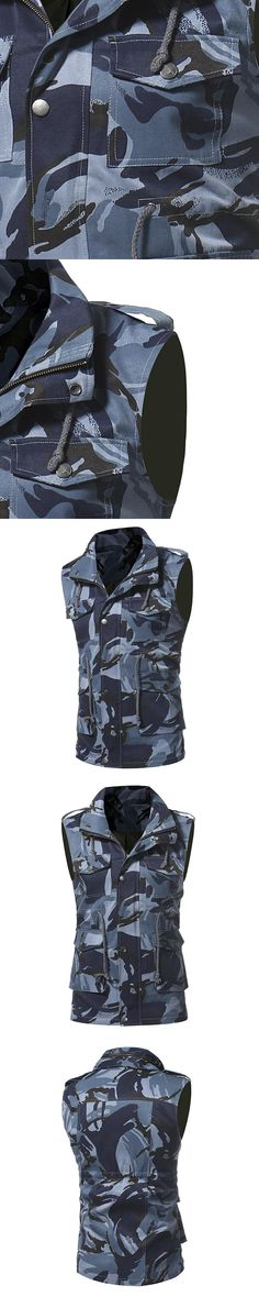 New Men's Camouflage Vests Coat Men Autumn Sleeveless Outerwear Colete Brand Clothing Casual Jackets Male Slim Camo Waistcoats