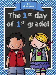 This 9 page mini pack is just perfect for celebrating the day of grade. Let's face it - the days fly by in the beginning of the school year with procedures, read alouds, assemblies, etc. You don't need a HUGE packet to cram all the day activities in. First Day Of School Activities, Kindergarten First Day, Teaching First Grade, 1st Day Of School, Beginning Of The School Year, Kindergarten Teachers, School Resources, First Grade Classroom, School Classroom