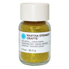 Martha Stewart Crafts Fine Glitter, 1.5 oz. Yellow Barite