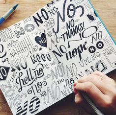 Start on Handlettering! Hand Lettering Fonts, Creative Lettering, Lettering Styles, Lettering Tutorial, Brush Lettering, Lettering Design, Font Design, Lettering Ideas, Print Fonts