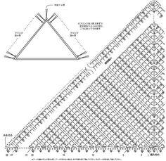 [코바늘 삼각숄 도안] 코바늘 삼각숄 무료도안 : 네이버 블로그