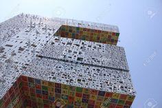 modern aluminium composite facade Stock Photo - 27938302