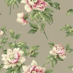 Casabella II Document Floral Wallpaper, Stone Grey/Soft Pink/Bright Pink/White/White/Various Green Hues