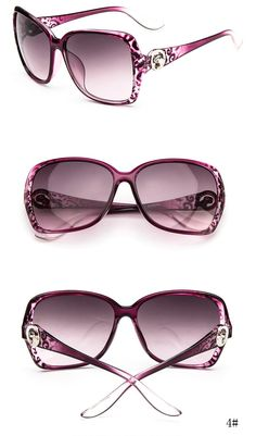 d7494bc7674e Hot Women's Fashion Designer Sunglasses Retro Vintage Shades Oversized  Eyewear