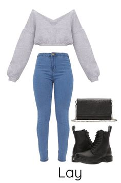 Date with Lay from the kpop group EXO. Discover outfit ideas for night out made with the shoplook outfit maker. How to wear ideas for Smartphone Crossbody and Doc Martens Pascal Zip College Outfits, Outfits For Teens, Girl Outfits, Kpop Fashion Outfits, Winter Fashion Outfits, Women's Dresses, Bts Inspired Outfits, Look Girl, Cute Comfy Outfits