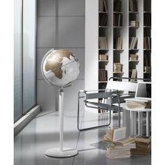 Studio photo of Vasco de Gama floor-standing world globe Decor Interior Design, Interior Decorating, Floor Globe, Desk Globe, Loft Style, Rustic Industrial, Office Furniture, Flooring, Chair