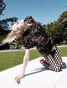 Happening: Maja Salamon by Alessio Bolzoni for Numéro #167 october 2015