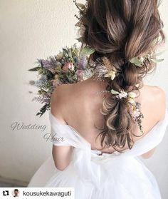 Pin by nonomuse on in 2019 Ponytail Hairstyles, Bride Hairstyles, Summer Hairstyles, Cute Hairstyles, Straight Hairstyles, Bridal Makeup, Wedding Makeup, Bridal Hair, Pixie Bob