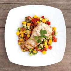 """""""GRILLED OPAH WITH MANGO-AVOCADO SALSA Good morning! Big Chin Kitchen has a light and refreshing dish for you. Opah has a rich taste with a firm texture. The mango-avocado salsa is the perfect accompaniment for this type of fish. It pairs well with other types of fish as well as chicken.  You can also try it with Big Chin Kitchen's Jamaican jerk chicken or carne asada recipe. The colorful combination of mango, avocado, tomato and cilantro really work well together. Simple, delicious and…"""