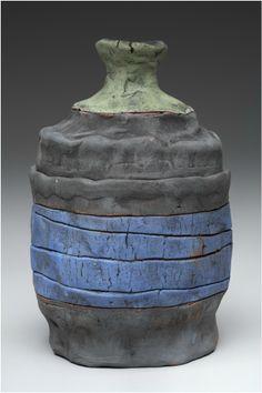 Mid-Range Earthenware Covered Jar by Karen McPherson