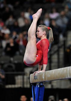 Bridget Sloan on beam at the 2009 Tyson American Cup