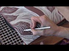Watch Natalie Blake make ceramic wall art tile