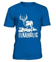 T shirt  Elkaholic Funny Elk Hunting Deer Drinking T-Shirt  fashion trend 2018 #tshirt, #tshirtfashion, #fashion #huntingshirts