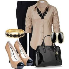 Classy Work Outfit but I would need flats. find more women fashion ideas on www.misspool.com