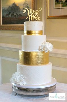 Gold Leaf - Cake by Louise Jackson Cake Design