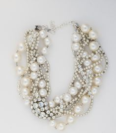 Yule style! Noel or Christmas Party!! Twisted Ropes of various size pearls!! Gorgeous with everything - from Jeans to Bridal Gowns! Pearls are always Perfect!