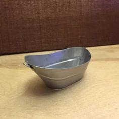 www.smallscaleliving.com Dollhouse miniature doll house one inch scale furniture 1/12 1:12 mini tin bucket tub metal