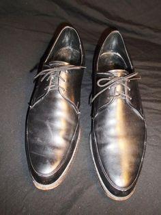 11B  Men's Vintage The Rand Black Dress Shoes #RandShoe #OxfordDressShoe
