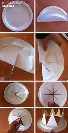 Crafts - Crafts - how to make king crown step by step More Informations About Corona de rey. Crown Crafts, Hat Crafts, Diy And Crafts, Paper Crafts, Canvas Crafts, Jewelry Crafts, Diy For Kids, Crafts For Kids, King Craft
