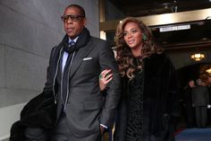 Beyonce and Jay Z at the 2nd Inauguration Of President Barack Obama