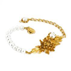 Alex Monroe   Chrysanthemum Princess Bracelet