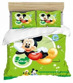 MICKEY MOUSE FULL SIZE DUVET COVER WITH TWO PILLOW CASES 3 PC SET Minnie Mouse Bedding, Disney Bedding, Mickey Minnie Mouse, Full Size Duvet Cover, Kids Bedding Sets, Soo Jin, Kids Blankets, Soyeon, Disneyland Paris