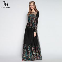 Vintage Print Elegant Mermaid Party Gown Long Dress Like and share if you think it`s fantastic! http://www.storeglum.com/product/ld-linda-della-2016-bodycon-sheath-designer-maxi-dress-womens-high-quality-vintage-print-elegant-mermaid-party-gown-long-dress #shop #beauty #Woman's fashion #Products