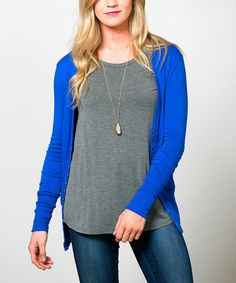 Love this Sawyer Cove Royal Blue Snap-Button Cardigan - Women by Sawyer Cove on #zulily! #zulilyfinds