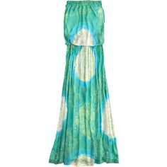 COOL CHANGE Bloussant Full Hand Dyed Maxi Dress ($199) ❤ liked on Polyvore