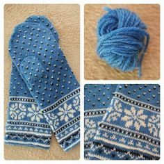 Stricken Another latvian mittens. Pattern from Lizbeth Upitis' book. Knitted Mittens Pattern, Loom Knitting Patterns, Crochet Mittens, Fingerless Mittens, Crochet Gloves, Knitting Charts, Knitting Stitches, Knit Crochet, Knitting Tutorials