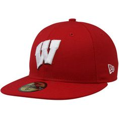 New Era Wisconsin Badgers 59FIFTY Fitted Hat - Cardinal