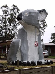 The Big Koala, Cowes (Phillip Island), Victoria - Who doesn't need a giant koala in the front yard? Melbourne Australia, South Australia, Australia Travel, Brisbane, Bali, Caravan Hire, Phillips Island, Big Thing, Roadside Attractions