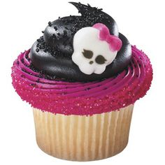 Monster High cupcakes with edible decorations!