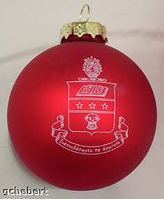 Alpha Chi Omega, ΑΧΩ, Crest Holiday Ball Ornament by McCarthey NEW #McCartney