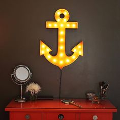 "Marquee Symbol Lights - 24"" Anchor Vintage Marquee Lights Sign (Rustic)"