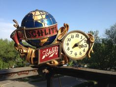Schlitz Beer Sign Lighted Clock Baroque Motion by Danielosworld, $160.00