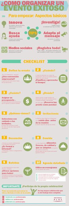Tips para organizar un evento exitoso! - Preference Plus