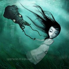 The Drowning Girl by ~THZ on deviantART