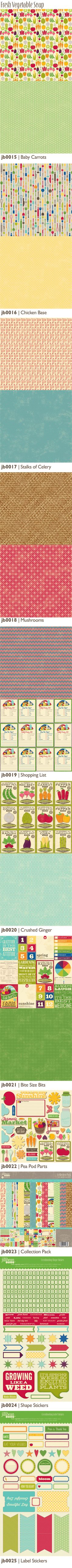 Fresh Vegetable Soup from Jillibean. This line is perfect for so many themes: gardens, cook books, time in the kitchen...or in my kid's play kitchen!