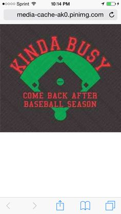 Yes. But if you come back during baseball season, you'll find me busy with hockey season. Sooo... :)